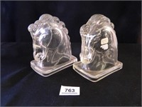 Horsehead Glass Bookends