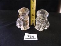 Glass Dogs; 1-w/chain around neck