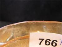 Peach Lustre Iris Vase & Bowl