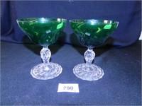 Forest Green Glassware; (6)