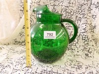 Forest Green Ice Lip Pitcher