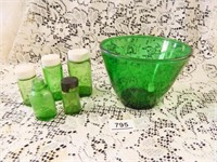 Forest Green Glass Bowl