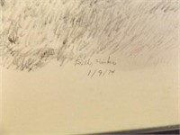 1974 Hicks Drawing, Framed