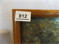 Painted Canvas', one Framed (2)