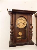 """R A Wood Wall Clock, 18"""" x 12"""" x 7"""""""