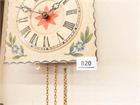 Wood Painted Front Clock