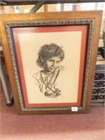 1970 Meherraheem Drawing, Framed
