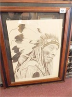 1976 Therlee Gibson Drawing, Framed