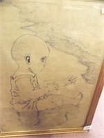 R. Taggart Drawing, Framed