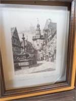 """Drawings in Frames (2) 18"""" x 16"""""""