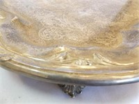 "B. Rogers Silver Co Tray, 18"" x 28½"" , Footed"