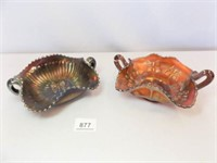 Carnival Glass Bowls, Butterfly Design (2)