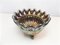 Carnival Glass Northwood Footed Bowl