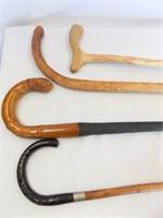 Wood, Metal Canes (4)