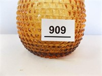 Gold Hobnail Glass Vase, Made in Italy
