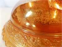 """Carnival Glass Bowl, Footed, 9"""""""