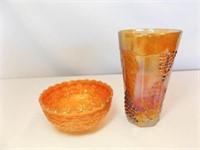 Carnival Glass, Grape Pattern (2)