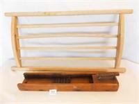 Wood Drying Rack, Potato Slicer (2)