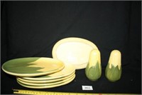 """""""Corn King"""" Plates and Salt and Pepper Set"""