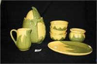 """Corn King"" Bowls; Cookie Jar; Small Pitcher"