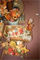 Fall Décor; 2 Boxes + 1 Bucket