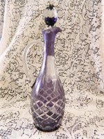 Purple Decanter w/Stopper