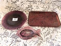 Purple Glass; Plate; Oblong Dish