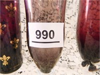 Purple Glass Vases-(2)