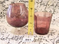 Purple Stemmed Glasses; Goblet