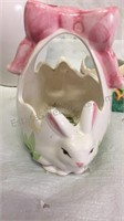 Assorted Easter Decor and Small Table Lamp
