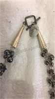 "Hematite Beaded 18"" Necklace"