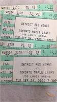 Assorted Red Wings Ticket Stubs