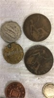 Assorted Foreign Coins/Currency