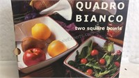 Quadro Bianco 2 Square Bowl Set- NIB