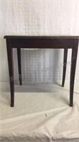 Small Wood Table 17x16x12