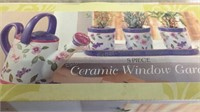 5 Piece Ceramic Window Garden - NIB