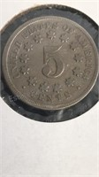 US 1868 Shield Nickel