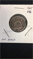 US 1867 Shield Nickel