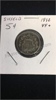 US 1882 Shield Nickel