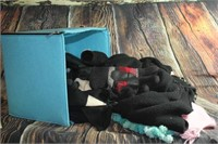 Cloth Box Full of Gloves and Scarves