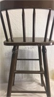 Vintage Wooden Youth Chair 34x16x12