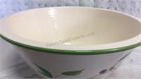 Large Ceramic Serving Bowl w/4 Pasta Bowls