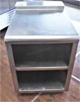 Stainless Work Table W/ Back Splash, 26x27