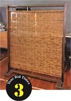 Bamboo Room Divider, 59 X 73