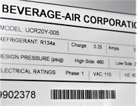 Beverage  Air One Door Worktop Cooler