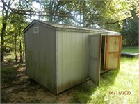 8x16 storage shed on skids to be moved within 30