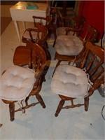 oak chairs (6pcs)