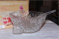 Anchor Hocking dishes & punch bowl