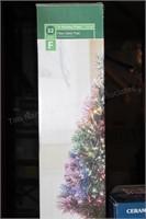 "Christmas fiber optic 32"" tree, ceramic trees, etc"