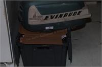 Evinrude boat motor parts & tote contents